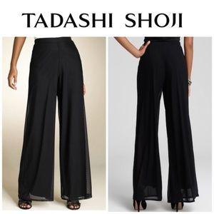 Tadashi Shoji Seaton Chiffon Wide Leg Slit Pants